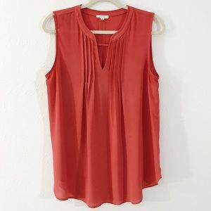 Pleione Nordstrom Rust Coral Sleeveless Blouse